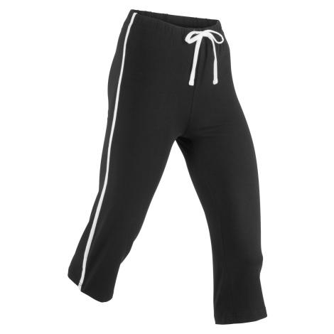 Sportovní strečové capri kalhoty, 3/4 délka, Level 1 Bonprix