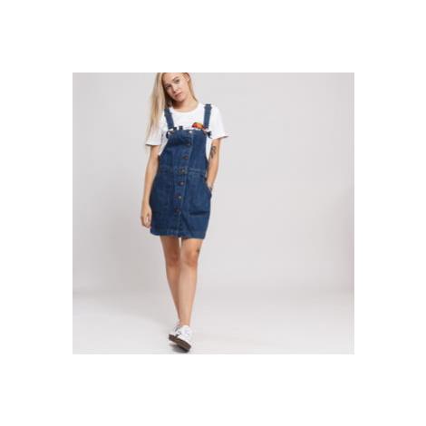 Urban Classics Ladies Denim Dungarees Dress ocean blue