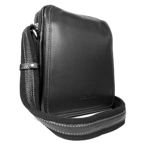 Pánská kožená taška přes rameno Hexagona 469565 - černá  7059fe68be7