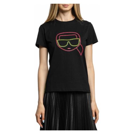 Černé tričko - KARL LAGERFELD | ikonik neon