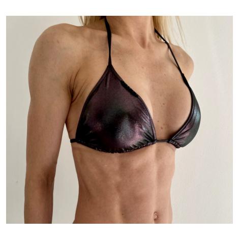 Dámské plavky Calvin Klein KW01250 TRIANGLE RP METALLIC   černá