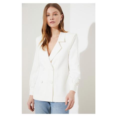 Women's blazer Trendyol Ekru