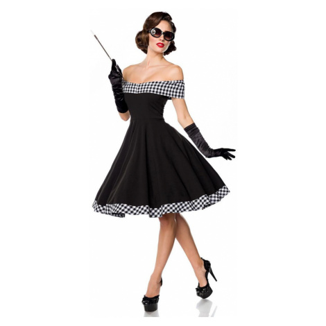 Pin up dámské šaty s odhalenými rameny