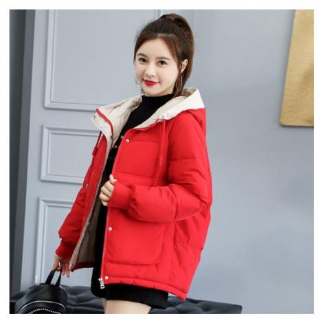Oversize dámská bunda zimni s kapucí