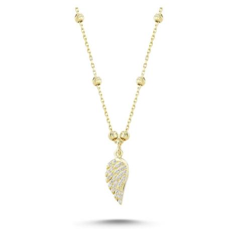 OLIVIE Stříbrný náhrdelník ANDĚLSKÉ KŘÍDLO GOLD 1722