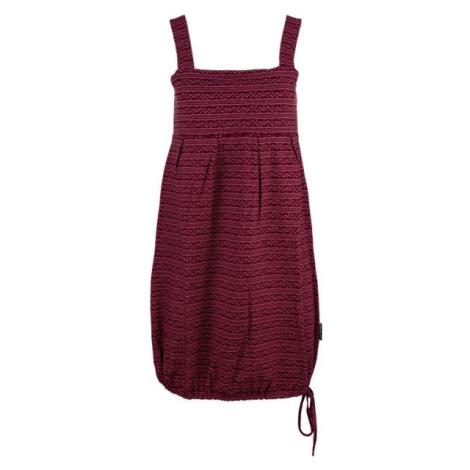 ALPINE PRO FAUNIA vínová - Dámské šaty