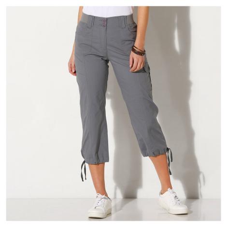 Blancheporte 3/4 kalhoty s úpletovým pásem šedá