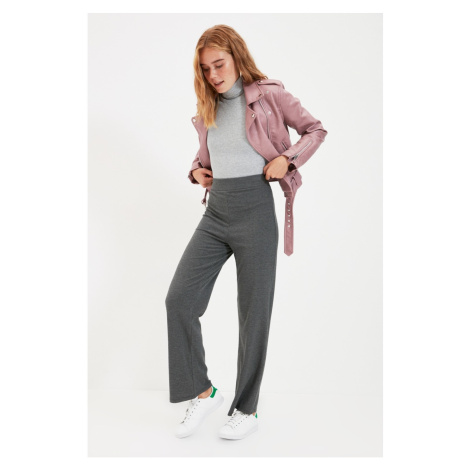 Trendyol Anthracite Corduroy Knitted Trousers