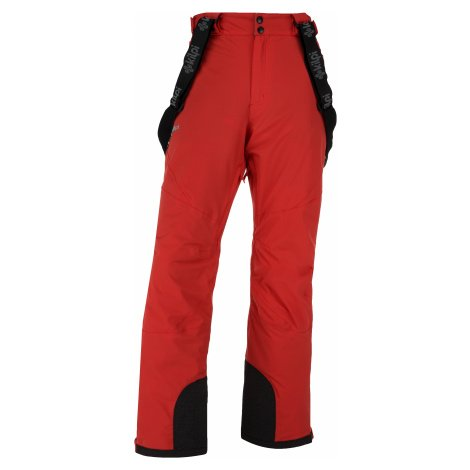 Pánské zimní lyžařské kalhoty KILPI METHONE-M červená