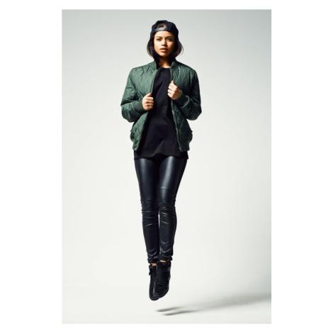 Ladies Diamond Quilt Nylon Jacket - olive Urban Classics