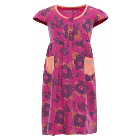 ALPINE PRO SARKO Dětské šaty KSKN048415PA Fuchsiová růžová