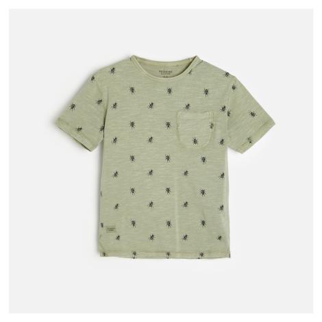 Reserved - Bavlněné tričko s potiskem - Zelená
