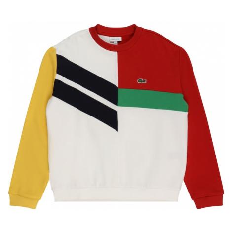 LACOSTE Mikina bílá / červená / žlutá / zelená / černá
