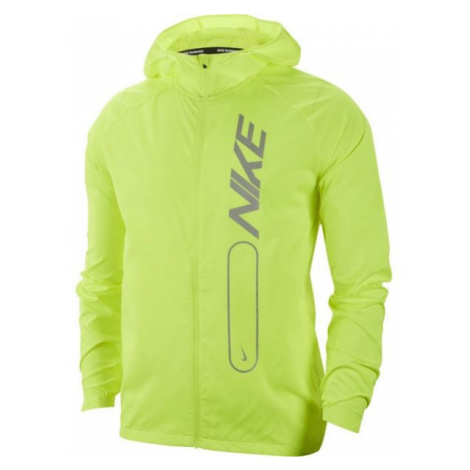 Nike ESSNTL JKT FLASH PO AIR M žlutá - Pánská běžecká bunda