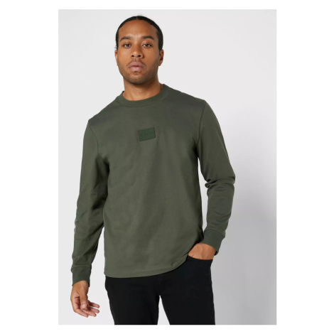 Calvin Klein pánské zelené triko s dlouhým rukávem
