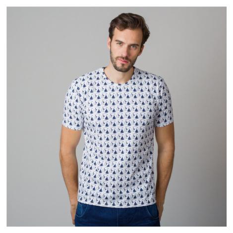 Pánské tričko s potiskem plachetnic a kotev 11808 Willsoor