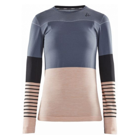 Dámské tričko CRAFT Fuseknit Comfort B šedá/růžová