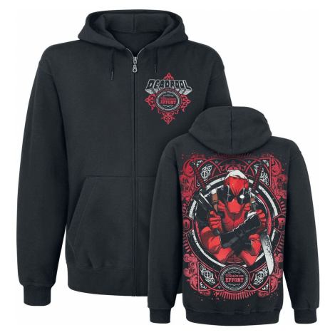 Deadpool Maximum Effort mikina s kapucí na zip černá