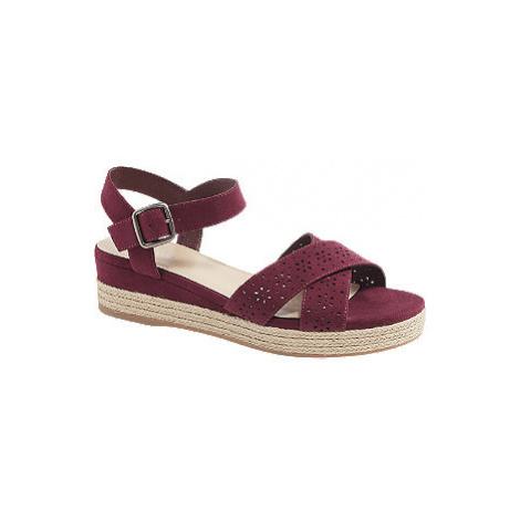Bordó sandály na platformě Graceland