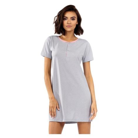 Dámská noční košile Becca šedá s tečkami Excellent Beauty