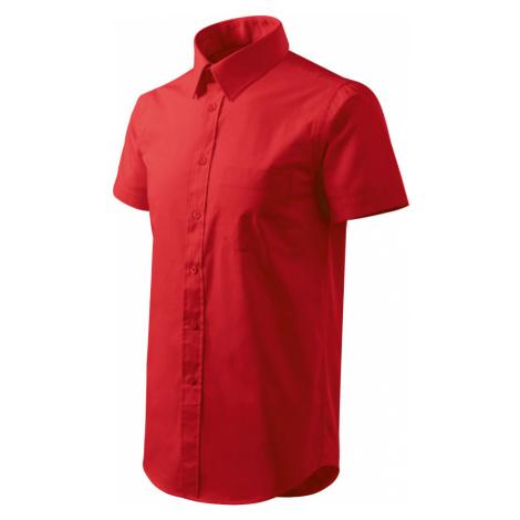 Malfini Shirt short sleeve Pánská košile 20707 červená