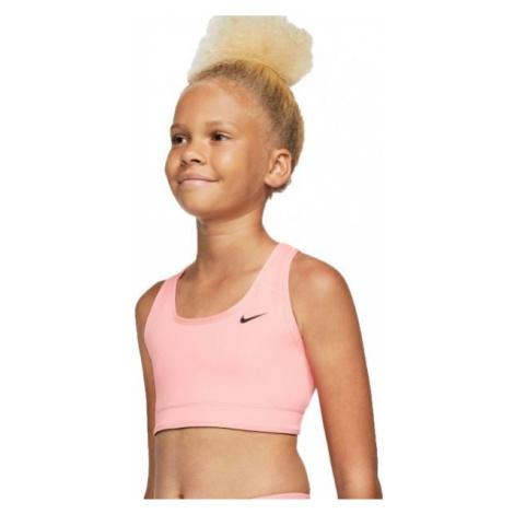 Nike NP BRA CLASSIC REV AOP G růžová - Dívčí sportovní oboustranná podprsenka