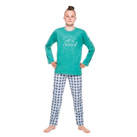 Chlapecké pyžamo Leo zelené Taro