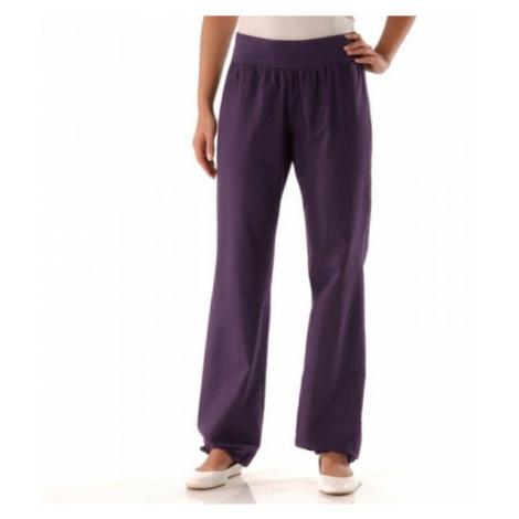 Lněné kalhoty purpurová
