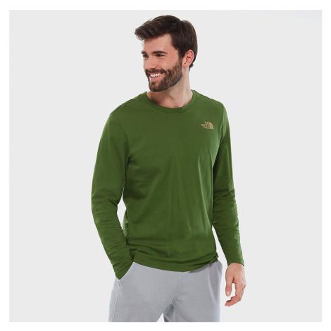 Zelené tričko s dlouhým rukávem Easy Tee The North Face