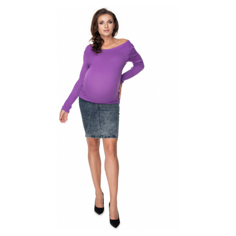 Fialový těhotenský pulovr 40038 PeeKaBoo