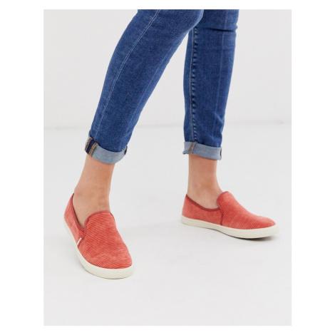 TOMS corduroy slip on shoes in spice-Orange