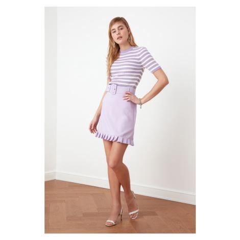 Trendyol Lila Belt Detailed Skirt