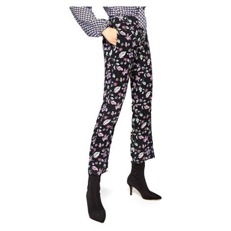 Pepe Jeans dámské černé kalhoty s květinovým vzorem Greta