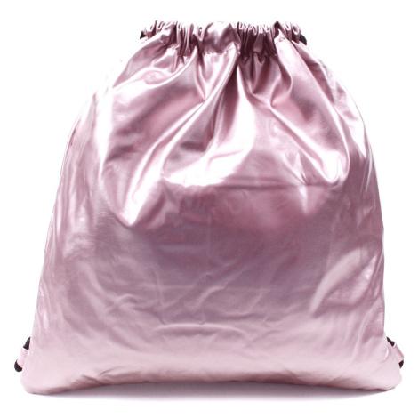 Růžový moderní lesklý vak Rowley Mahel