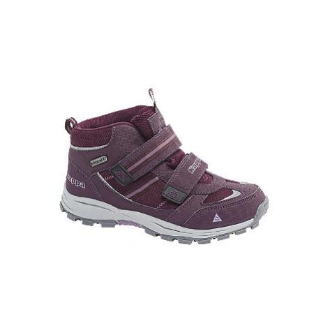 Fialová kotníková obuv na suchý zip s TEX membránou Kappa
