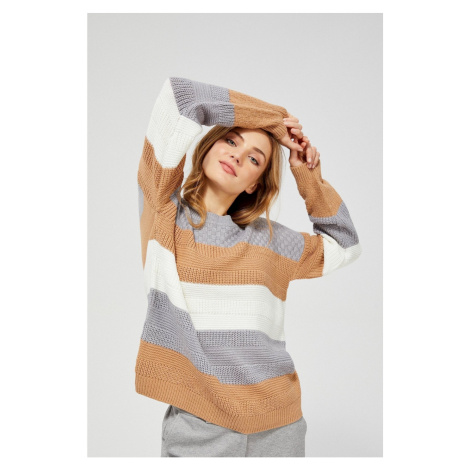 Ribbed striped sweater Moodo