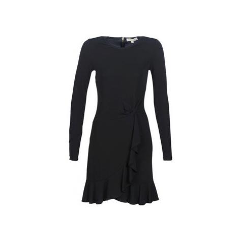 MICHAEL Michael Kors LS TWIST WAIST DRESS Černá