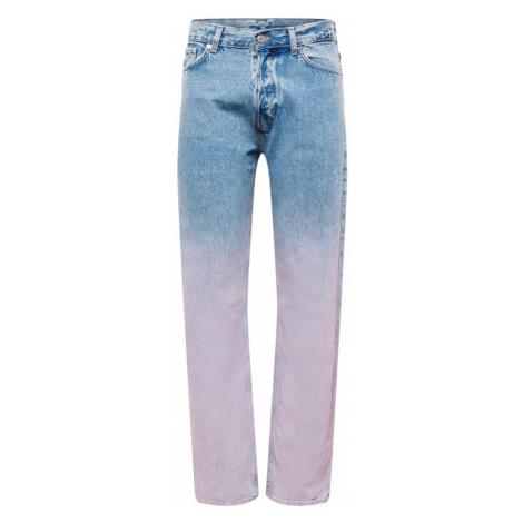 WEEKDAY Džíny modrá džínovina / pastelová fialová