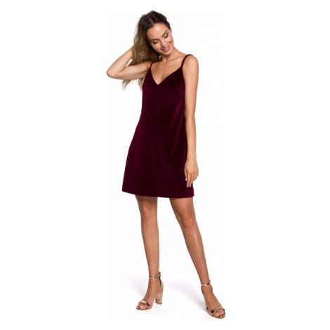 Made Of Emotion Woman's Dress M560 Maroon