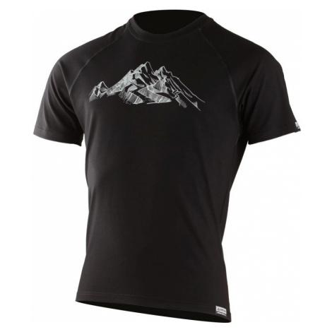Pánské vlněné Merino triko HILL 160g - černé Lasting