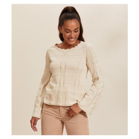 Svetr Odd Molly Selma Sweater - Bílá