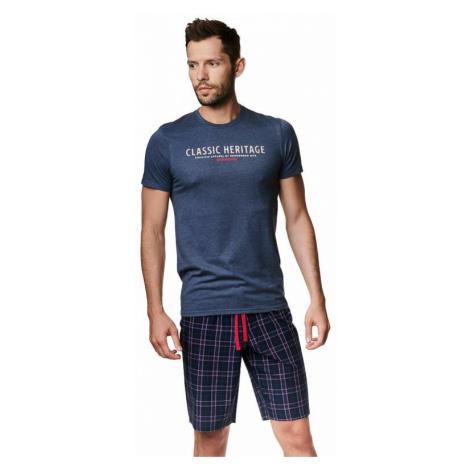 Krátké pánské pyžamo Myth modré Henderson