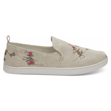Taupe Gus & Jaq Canvas Toms