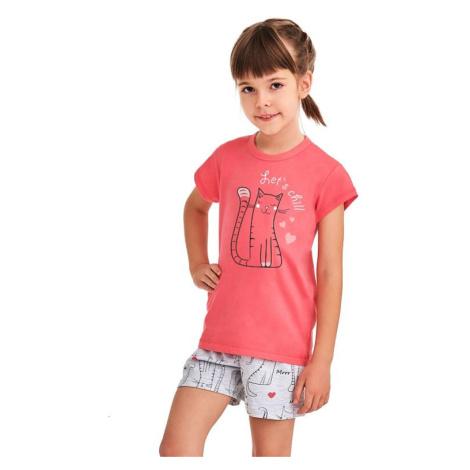 Dívčí pyžamo Hanička růžové Lets chill Taro