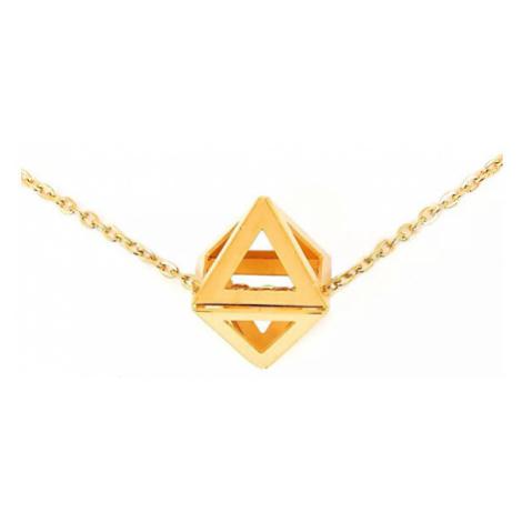 Vuch Stylový náhrdelník s přívěskem Triangle Gold