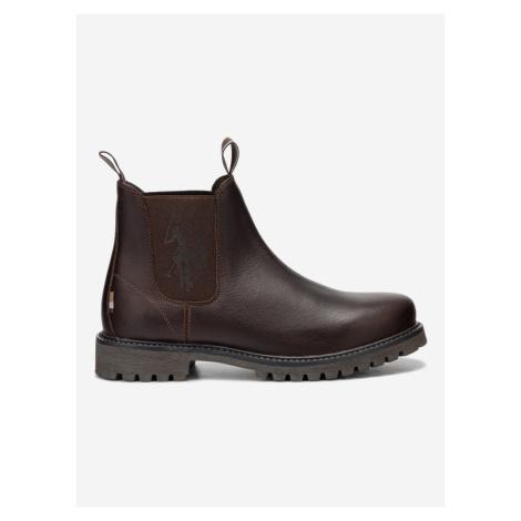 Alton Leather Kotníková obuv U.S. Polo Assn Hnědá
