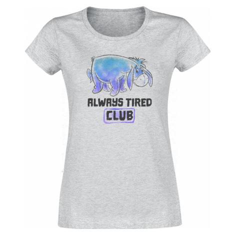 Winnie The Pooh Always Tired Club Dámské tričko šedý vres