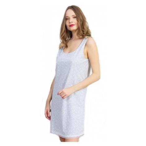 Dámská noční košile na ramínka Vienetta Secret Helena   světle šedá