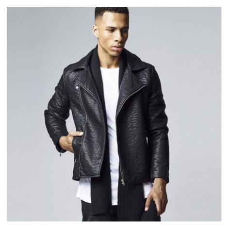 Urban Classics Leather Imitation Biker Jacket black