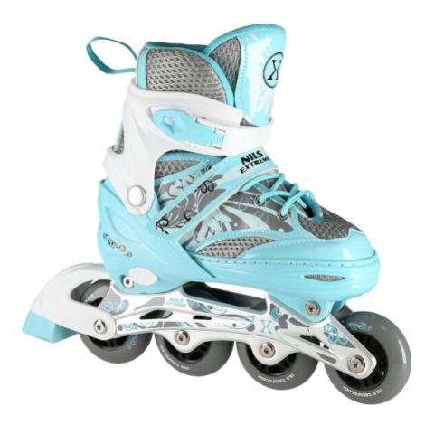 Dětské kolečkové brusle NILS Extreme NA10602 modré - ROZTAHOVACÍ